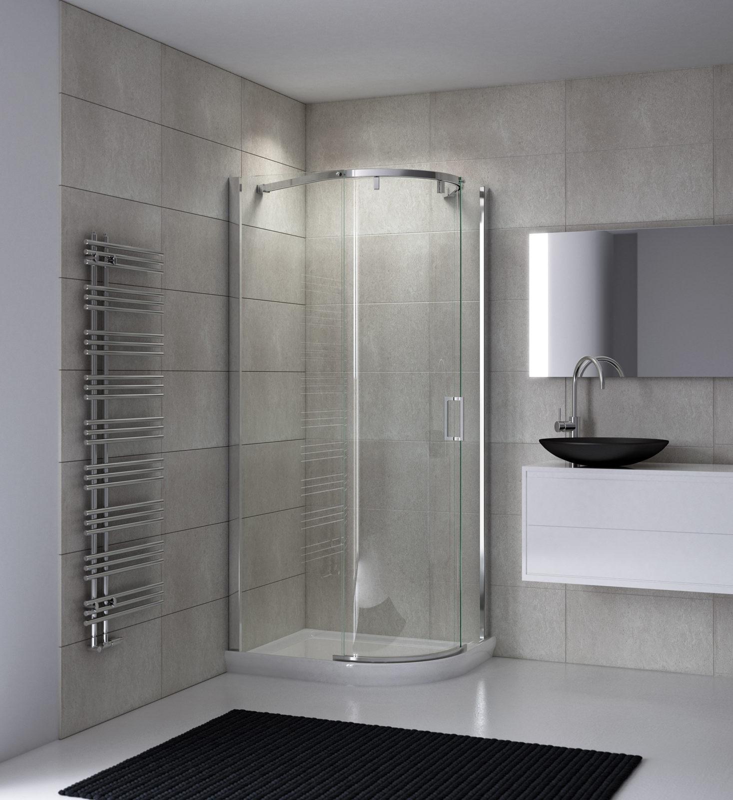 Cabine de douche coulissant avec verres courbes silanus Porte coulissante courbe
