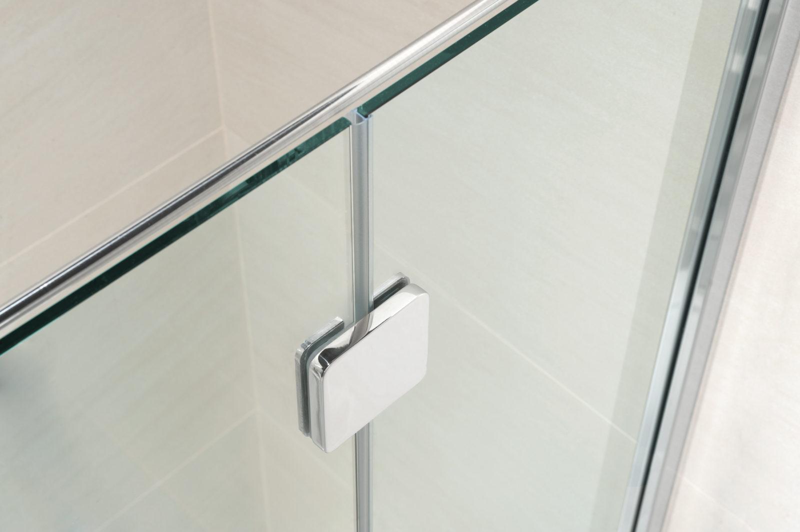 Cabine de douche 3 cotes avec porte lat ral silis calibe - Cabine de douche 3 cotes vitres ...