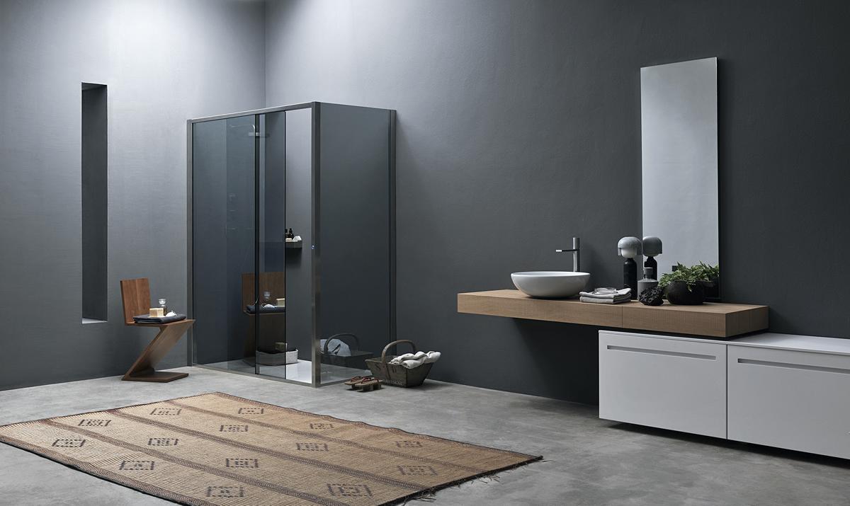 Cabina doccia angolare con anta scorrevole elettronica - Arbatax