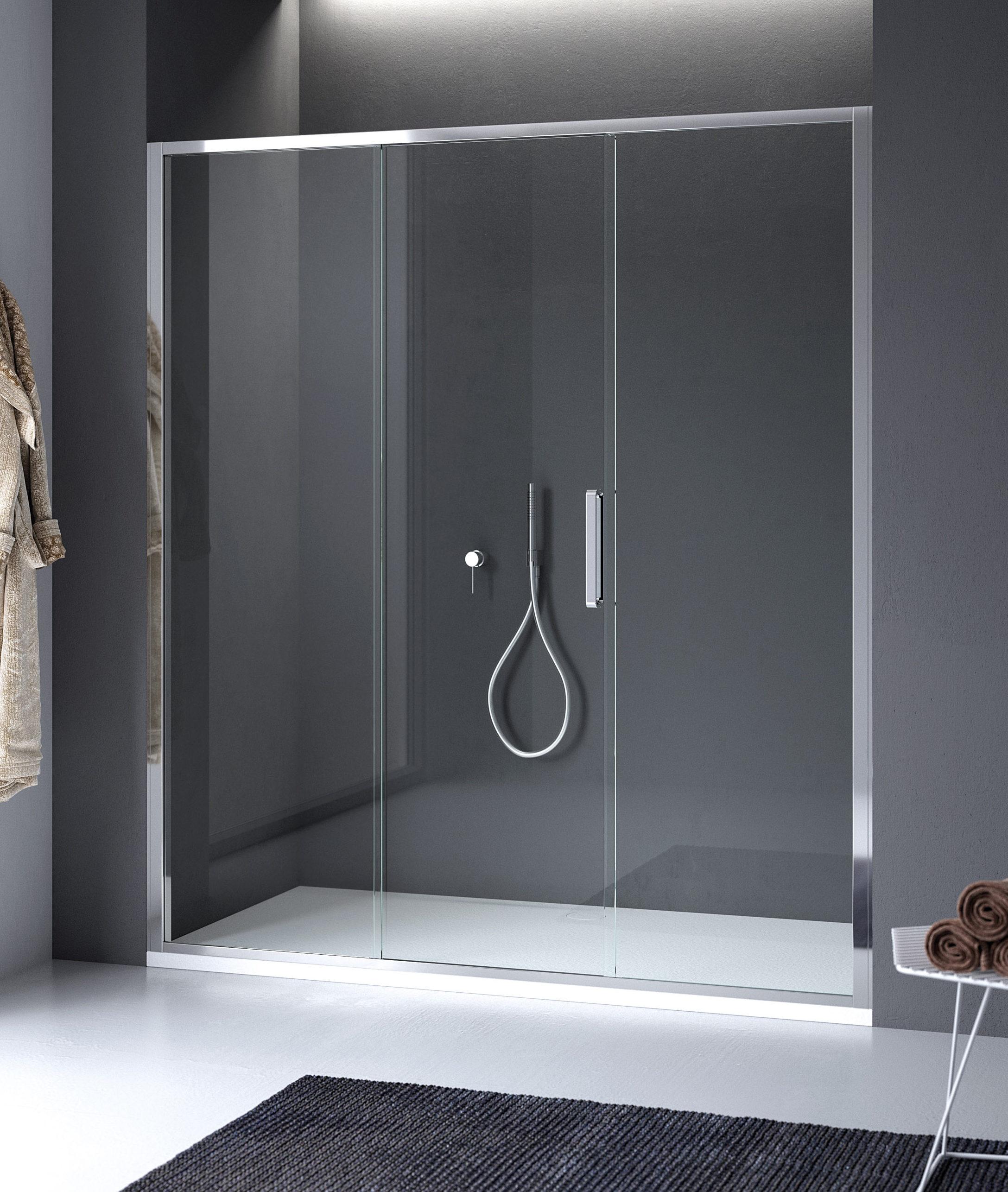 Porta doccia scorrevole centrale in nicchia arbatax - Porta scorrevole curva ...