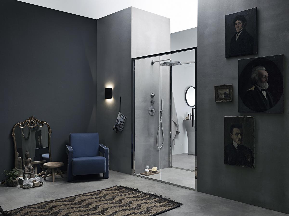 Porta doccia scorrevole in nicchia arbatax - Cabine doccia su misura ...