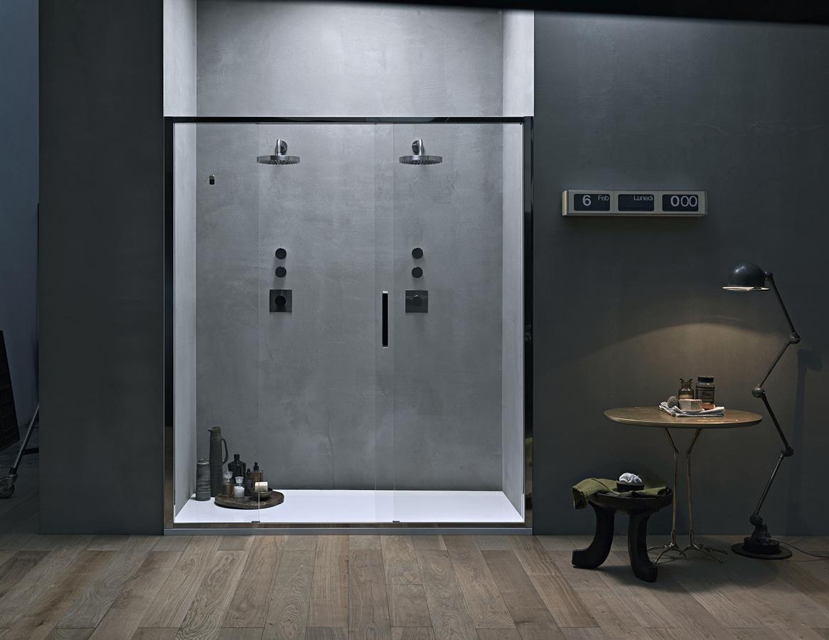 Porta doccia scorrevole centrale in nicchia - Arbatax
