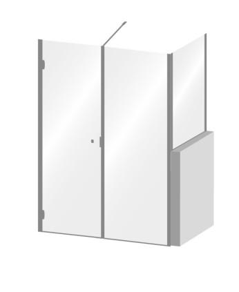 Porta doccia con fisso su muretto Archivi - Calibe