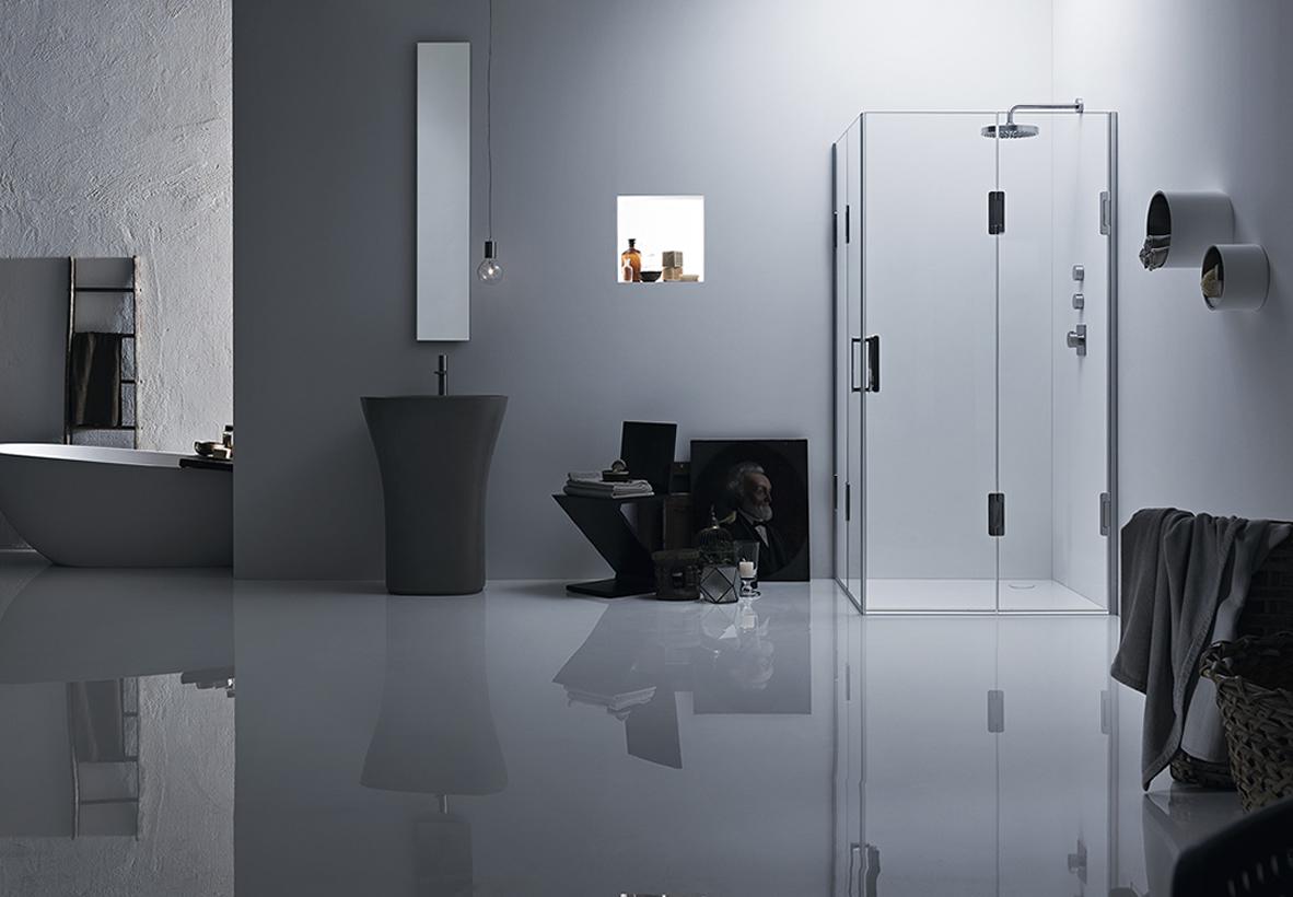 Cabina doccia angolare con 2 ante Thiesi