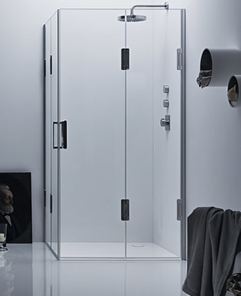 Cabina doccia angolare con 2 ante su misura thiesi - Ante per doccia ...