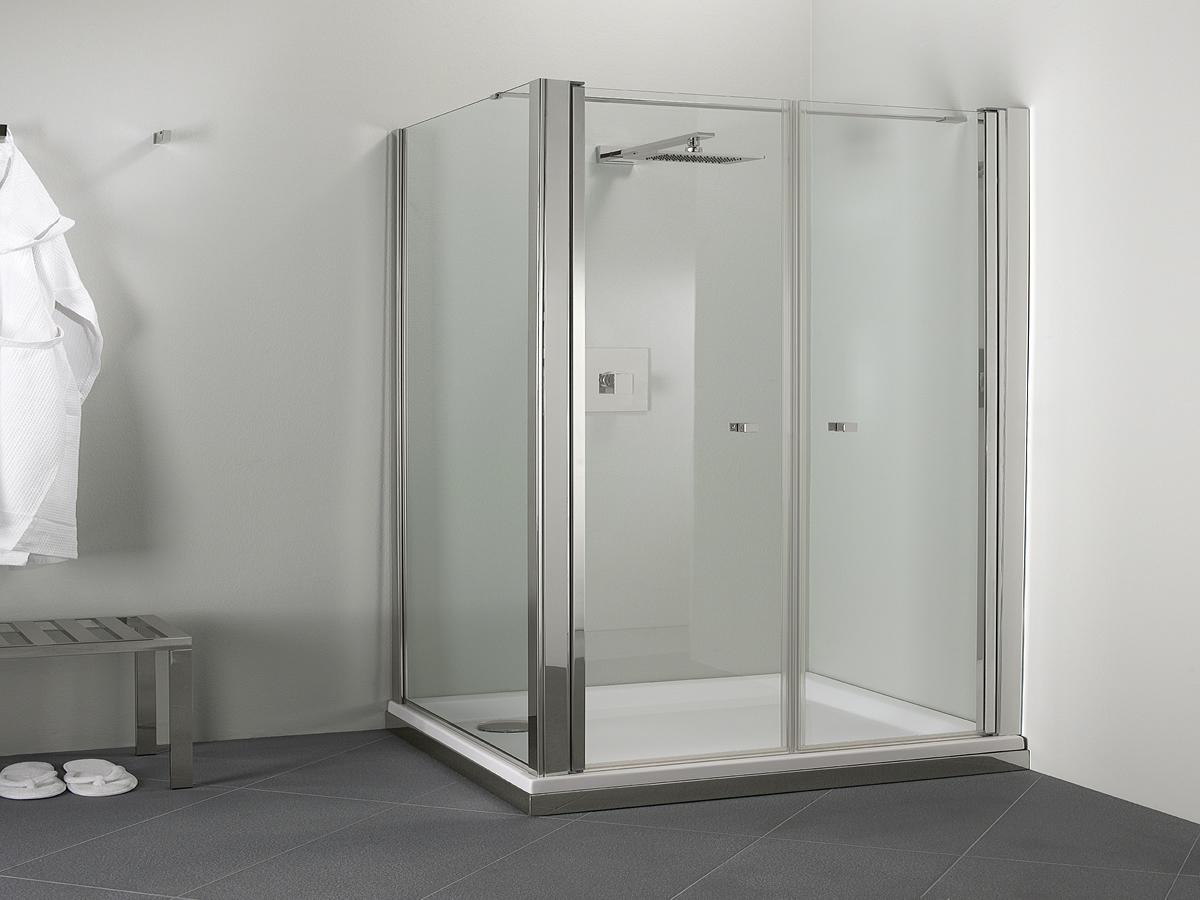 Parete doccia angolare a doppia anta con lato fisso - Palau