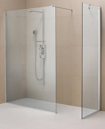 Parete doccia divisoria in cristallo