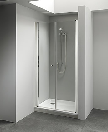 Porta doccia a soffietto per nicchia infissi del bagno - Porta doccia pieghevole ...