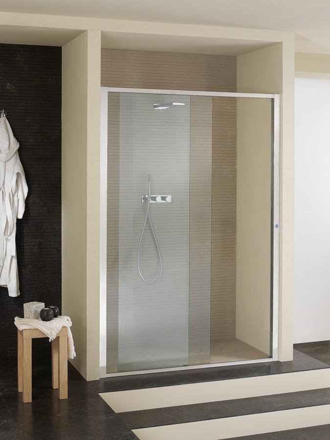 Porta doccia scorrevole elettronica in nicchia - Arbatax