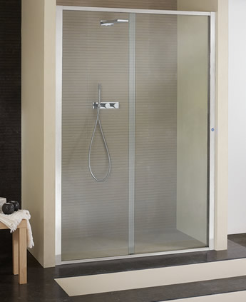 Porta doccia a nicchia in cristallo - Porta in cristallo scorrevole ...