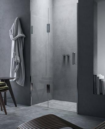 Porta doccia scorrevole in nicchia Thiesi