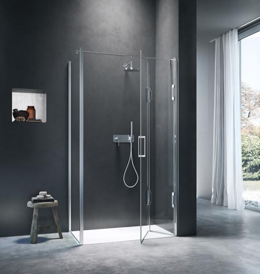 Cabina doccia angolare con apertura a libro thiesi - Porta cabina doccia ...