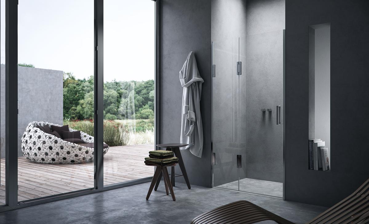 Porta doccia scorrevole in nicchia thiesi - Doccia senza porta ...