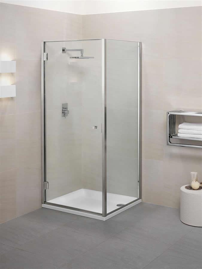 Porte de douche avec cot fixe en angle calibe for Porte petite largeur
