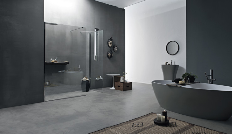 Parete doccia divisoria fissa in cristallo linea trasparenza - Doccia senza porta ...