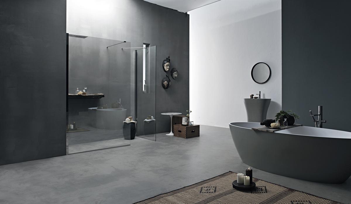 Parete doccia divisoria fissa in cristallo linea trasparenza - Cabine doccia su misura ...