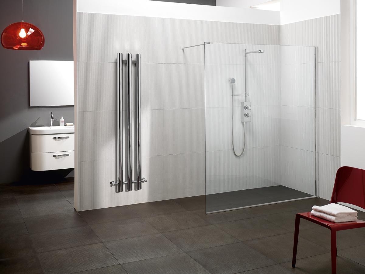Parete Divisoria Con Vetro : Parete doccia divisoria fissa in cristallo linea trasparenza