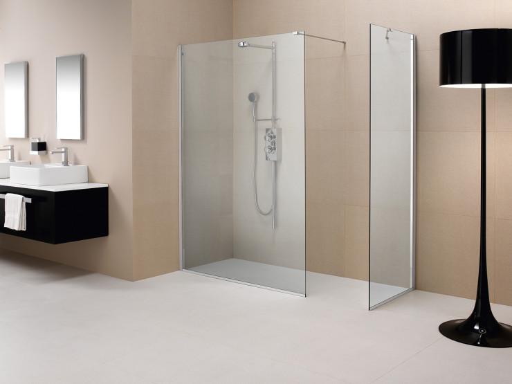 Parete doccia divisoria fissa in cristallo - Linea Trasparenza