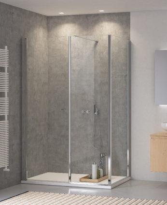 Parete e porta doccia in cristallo - PALAU