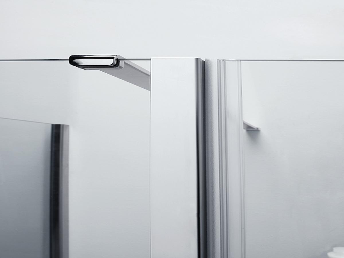 Parete doccia di cristallo con lato fisso su muretto - Palau