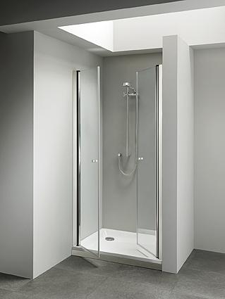 Porta doccia nicchia con 2 ante per soluzioni in nicchia di media ...