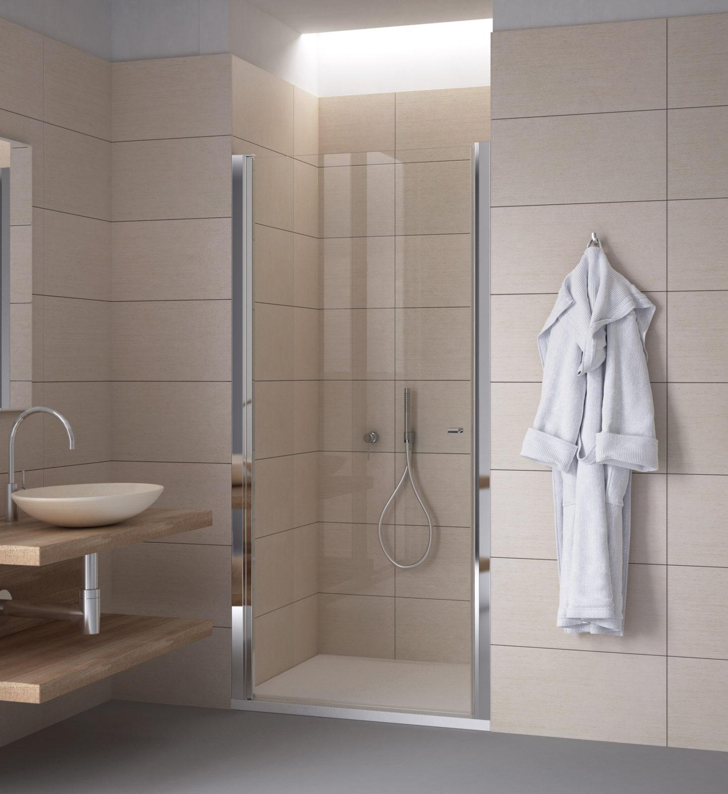 Porte de douche en niche - Calibe
