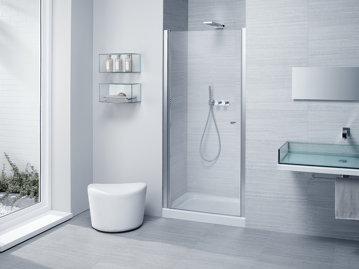 Parete in vetro per vasca da bagno - Porte in vetro per bagno ...