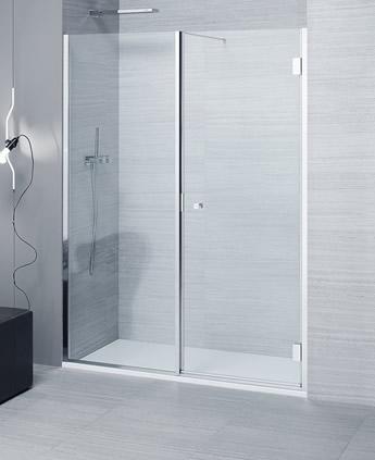 Porte doccia in nicchia in cristallo bithia for Doccia a muro