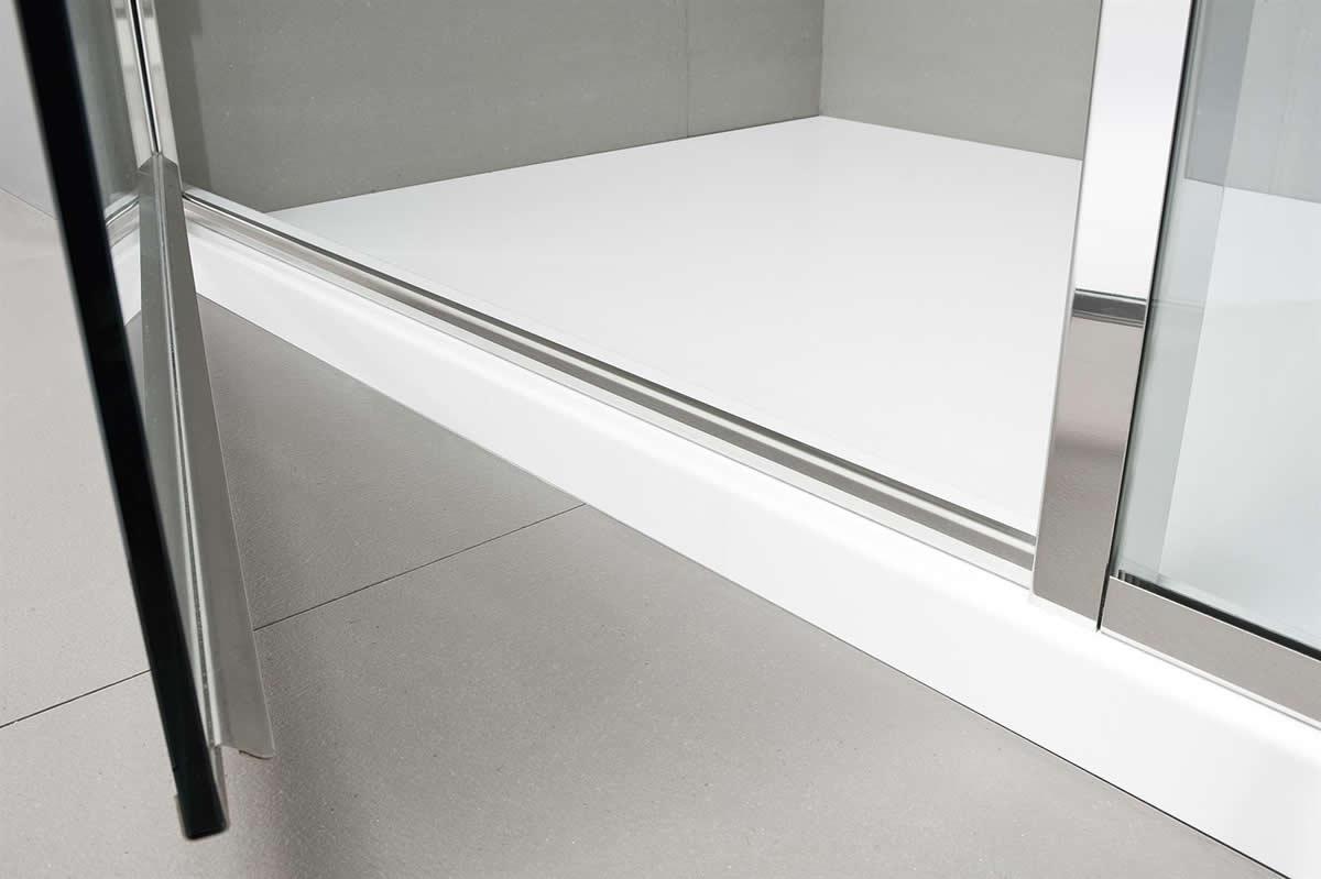 Parete doccia di cristallo in nicchia bithia - Box doccia design minimale ...