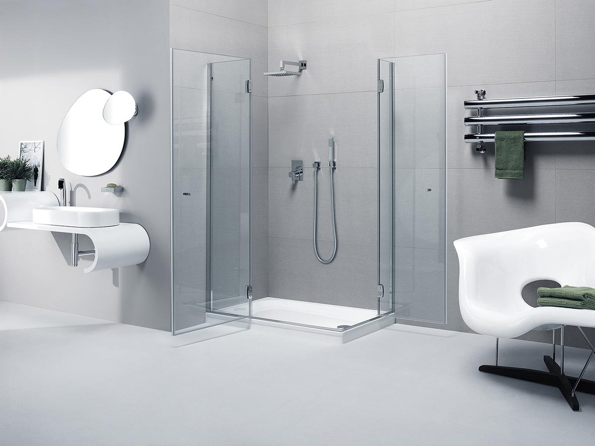 Cabina doccia angolare con 2 ante   silis
