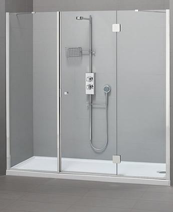 Parete doccia di cristallo in nicchia silis for Doccia a muro