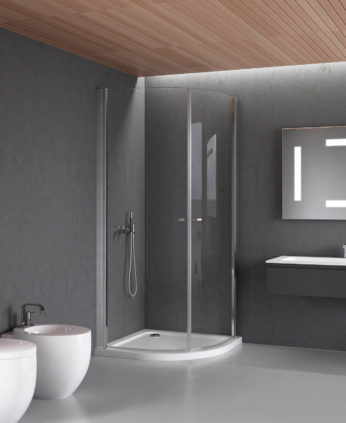 Cabina doccia angolare - Cabina doccia esterna ...