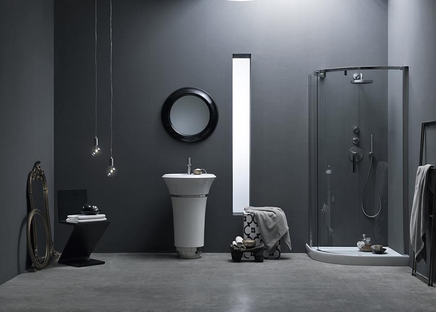 Cabina doccia scorrevole con cristalli curvi - Silanus