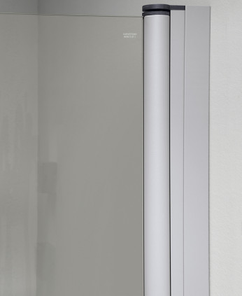 Cabine doccia scorrevole curva in cristallo luna - Cabina doccia esterna ...