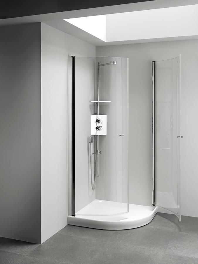 Cabina doccia angolare con apertura esterna e interna - Cabina doccia esterna ...