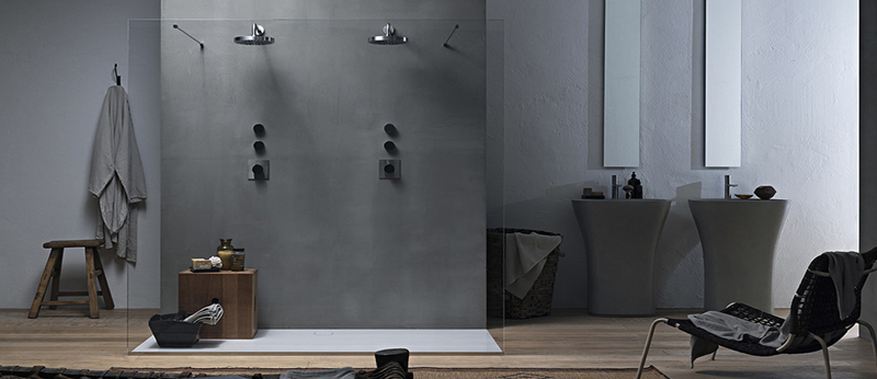 Box doccia a filo pavimento