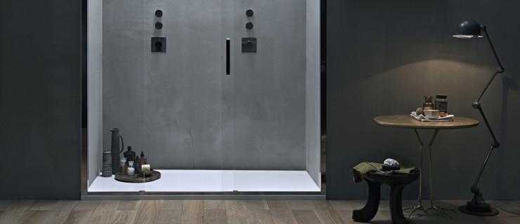 Doccia nicchia con porta scorrevole