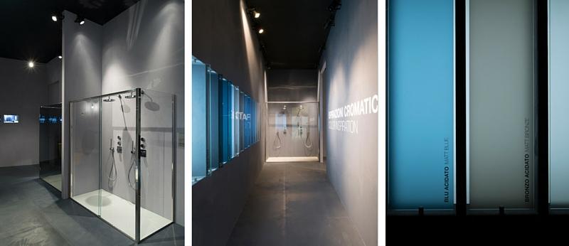 Idee per bagni moderni secondo cersaie 2015 calibe - Cabine doccia in vetro ...