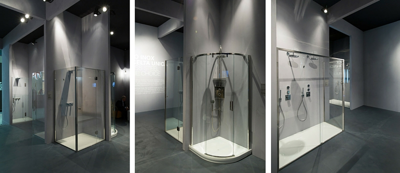 Idee per bagni moderni secondo cersaie 2015 calibe - Foto bagni con doccia ...