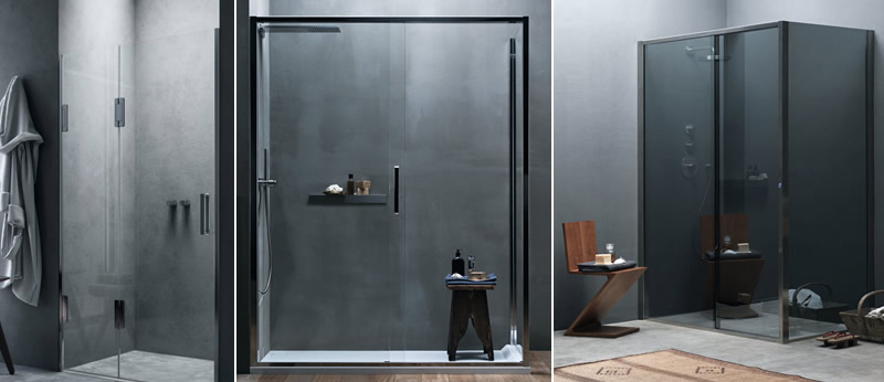Soluzioni di bagno con box doccia su misura calibe - Bagno moderno con doccia ...