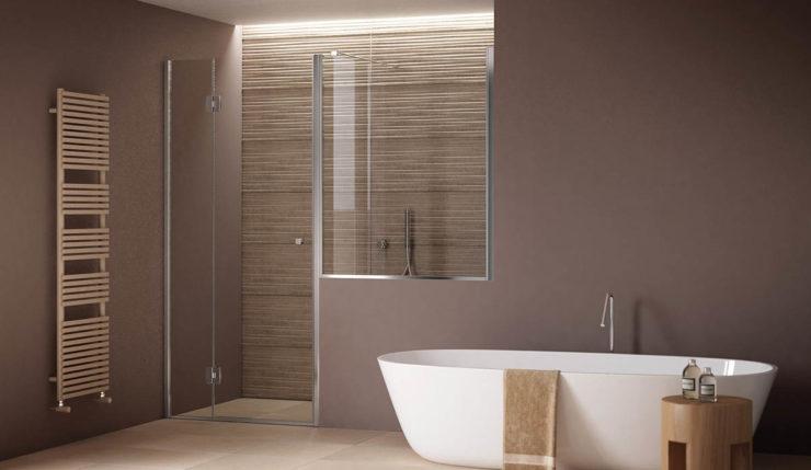 Porta doccia apertura interno esterno e fisso su muretto - Box bagno esterno ...