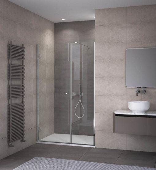 Parete doccia nicchia apertura interno esterno thiana calibe - Box bagno esterno ...
