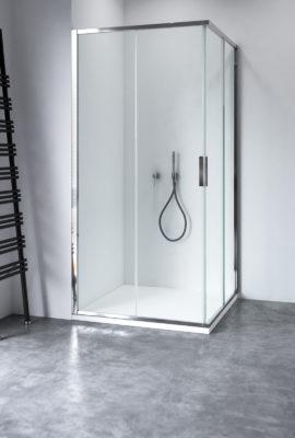Cabine doccia e box doccia su misura in cristallo e acciaio | Calibe